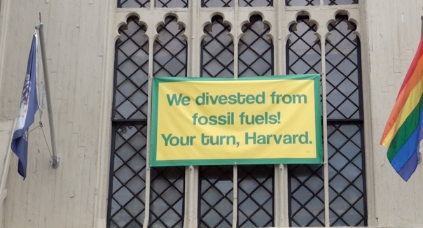 First Parish Divest Harvard Banner